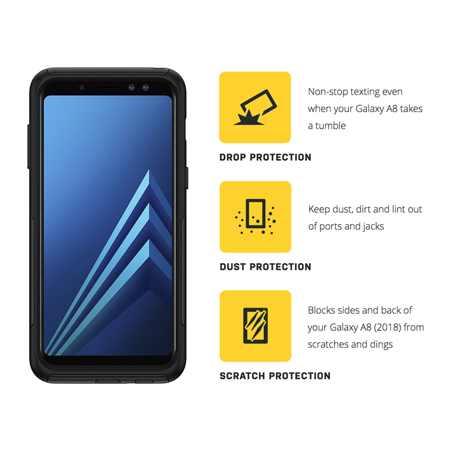 the best attitude d1175 79d52 OtterBox Commuter Case for Samsung Galaxy A8 (2018) - Black